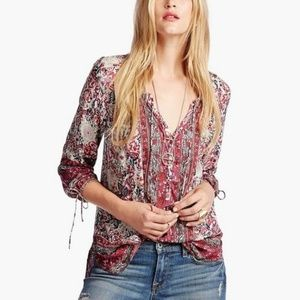 • LUCKY BRAND • floral printed long sleeve top